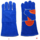 Blue Premium Split Leather Welder Glove