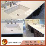 La vanité de quartz gris clair salle de bain haut de page pour l'hôtel / Projets commerciaux