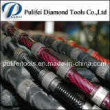 Le câble métallique de diamant a vu pour le fil en pierre de découpage a vu des talons