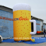 De levensechte Opblaasbare Grote Kop van het Bier voor uit de Verkoop van de Bevordering van de Deur