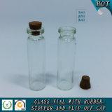 1 ml 2 ml 3 ml de flacon de verre cosmétique transparent avec couvercle en bois