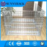 Contenitore galvanizzato pieghevole industriale della maglia del filo di acciaio
