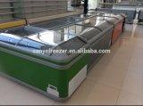 슈퍼마켓 자동차는 가슴/급속 냉동 냉장실 유형 섬 전시 냉장고를 녹인다