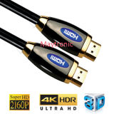 Mâle en gros de câble de l'interpréteur de commandes interactif HDMI en métal au support mâle 4k