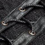 Camice di lavoro a maglia Lace-up del maglione degli uomini del progettista appena nato (T-474)