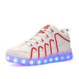L'Sneakers Que la lumière jusqu'cuir synthétique LED lumineux Sneakers