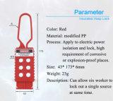 Loch-Nylonelektrischer Ausrückplastikhasp der Sicherheits-nicht leitfähige Isolierungs-sechs