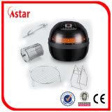 Frigideira elétrica do ar do produto comestível para a venda