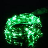 Il controllo 6hrs sopra e 18 ore del temporizzatore dei 50 LED fuori dalla corda del LED illumina gli indicatori luminosi a pile del collegare di rame della stringa per il partito domestico della camera da letto