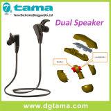 Fone de ouvido sem fio duplo da em-Orelha de Bluetooth do esporte dos altofalantes V4.1+EDR