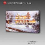 Peinture de paysage à la main de l'huile avec Snowscape peinture de haute qualité