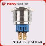 Spannungs-Edelstahl-Drucktastenschalter des 25mm Kreis-LED 12