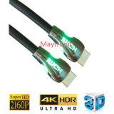 L'oro di alta qualità ha placcato 1.4 il cavo di 4K 60Hz HDMI con l'indicatore luminoso del LED