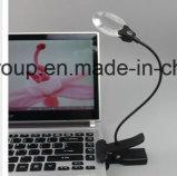 Vielzweckvergrößerungsglas-Glas-Schreibtisch-Tisch-Leselampe-Licht des vergrößerungsglas-LED mit USB