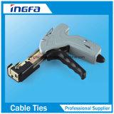 La O chiude la fascetta ferma-cavo a chiave coperta PVC dell'acciaio inossidabile dei legami della chiusura lampo
