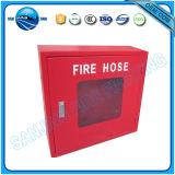 Красный шкаф вьюрка пожарного рукава металла