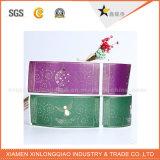 Le roulis de PVC conçoivent le collant en fonction du client d'étiquette de prix usine