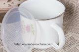 プラスチックカバーが付いている古典的でまたはOEMの装飾のエナメルのマグかコップ