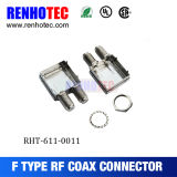 Doble apantallado de conectores tipo F para PCB