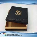 Rectángulo cosmético de empaquetado de papel rígido de lujo de la joyería del alimento del regalo (XC-hbg-021)