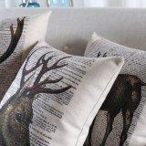 Cubiertas de lino de la almohadilla del acento del algodón competitivo para el hogar