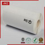 Escritura de la etiqueta del papel termal con el papel caliente de la posición de la venta