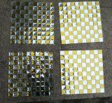 Azulejo de mosaico de la plata de la mezcla del oro, mosaico del espejo (HD092)
