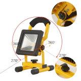 10W 높은 광도 플래쉬 등 옥외 야영 손전등 재충전용 투광램프