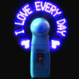 2017 Promotion Gifts Mini LED Light Flashing Message Fan (3509)