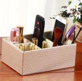Rectángulo de almacenaje alejado de cuero del regulador de la PU del hogar, rectángulo de almacenaje de cuero de los cosméticos de la PU