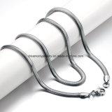 De hete Prijs van de Fabriek van de Halsband van de Kettingen van de Slang van het Roestvrij staal van de Verkoop Zilveren