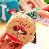 Chiusura lampo creativa di verde della borsa dei 3386 PULA svegli della ragazza piccola un commercio all'ingrosso chiave del sacchetto della moneta del sacchetto