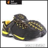 Chaussure de sécurité en cuir Nubuck avec semelle en caoutchouc EVA + TPU + (SN5438)
