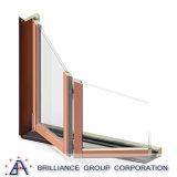 Vetro di alluminio che fa scorrere finestra piegante