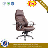 ブラウンの高い背皮の執行部の椅子(HX-NH095)
