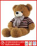 Long jouet pelucheux d'ours de nounours de cheveu avec la bande