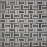 China natural/blanca/negro/mosaico gris para la pavimentación de la pared usada