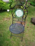 Mosaico de la Ronda de Venta caliente negro silla plegable