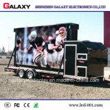 Visualización de pantalla video a todo color del carro móvil al aire libre LED para hacer publicidad de P5/P6/P8/P10