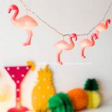 12 розовых шнура фламингоа освещаемых батареей крытых СИД Fairy