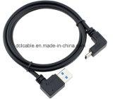 Cabo USB3.0 a USB3.1 Tipo C de 90 graus