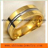 Shineme joyería de alta calidad titanio talla 18k anillo de oro