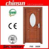 Porte en bois recouvert de PVC avec verre (SV-P024)