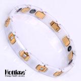 Gute Qualitätsmann-Edelstahl-Armband mit keramischem und Hämatit