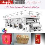 Haute vitesse machine d'impression flexo 6 couleurs pour le papier, film, sac en plastique