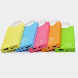 batería portable de la potencia del bolso 4000mAh con el cargador cristalino del teléfono móvil del anillo que brilla intensamente