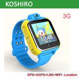 子供のための人間の特徴をもつ3Gビデオ呼出しGPS腕時計の追跡者