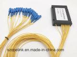 Gpon Telecommunication 1X16プラスチックの箱 PLCのディバイダー