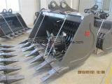 Raspagem/que grelha/cubeta de esqueleto para a máquina escavadora de 12t 20t 30t