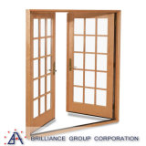 Porte battante en aluminium/Français avec grille